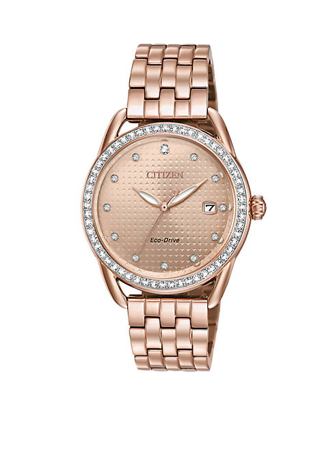 Citizen Ladies Drive Eco-Drive Pink-Tone Watch
