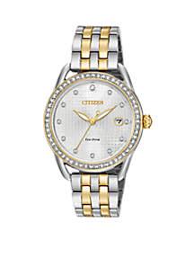 Ladies Drive Eco-Drive Two-Tone Watch