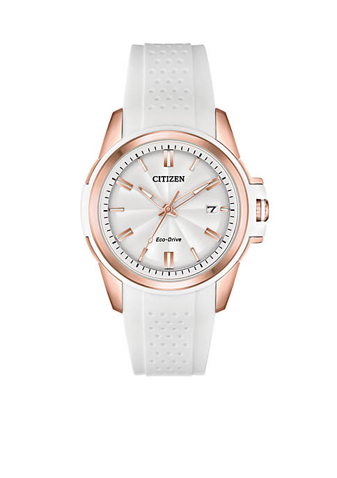 Citizen Womens Stainless Steel Eco-Drive Silicone With Date