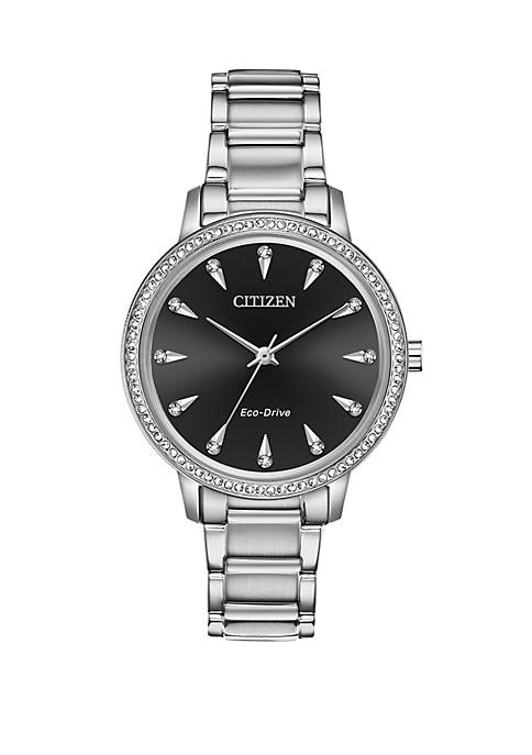 Citizen Eco Drive Ladies Silhouette Crystal Watch