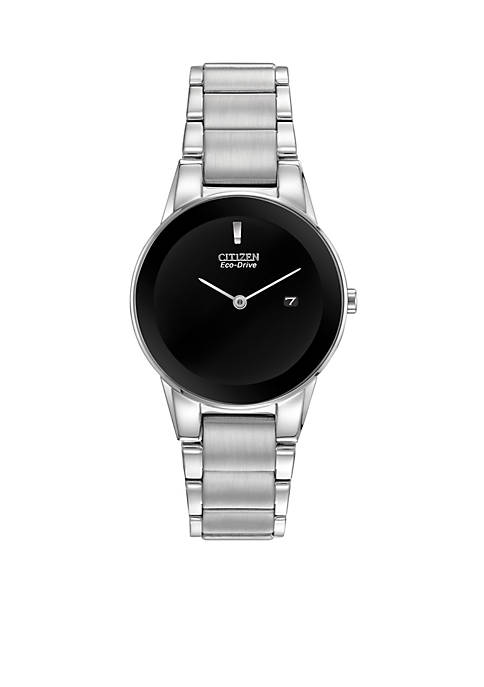 Citizen Womens Eco-Drive Stainless Steel Axiom Black Dial