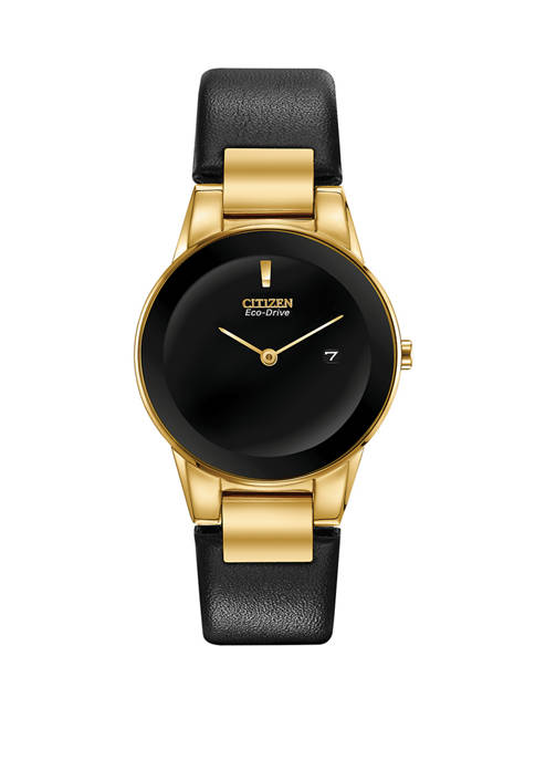 Citizen Womens Axiom Black Leather Strap Watch