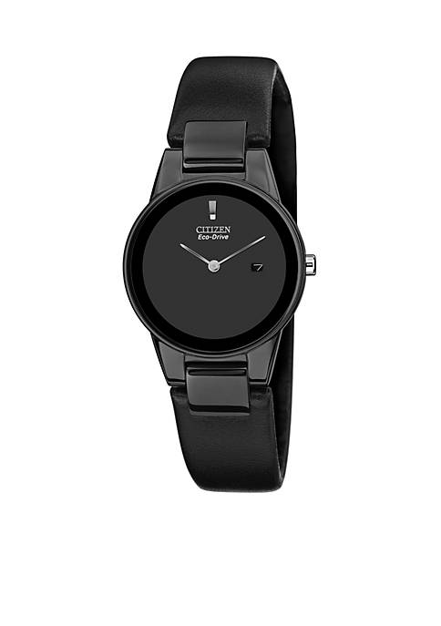 Citizen Womens Eco-Drive Axiom Black Leather Strap