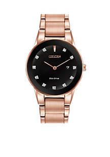 Eco-Drive Women's Rose Gold-Tone Axiom Watch