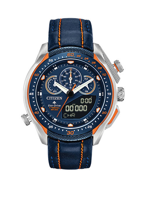 Citizen Mens Promaster SST Blue Leather Strap Watch