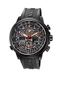 Eco-Drive Men's Navihawk A-T Chronograph Strap Watch
