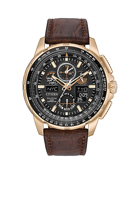 Mens Rose Gold-Tone Stainless Steel Calibre 2100 Citizen
