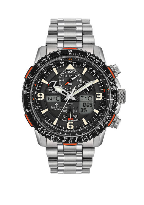 Promaster Skyhawk A-T Mens Titanium Bracelet Watch