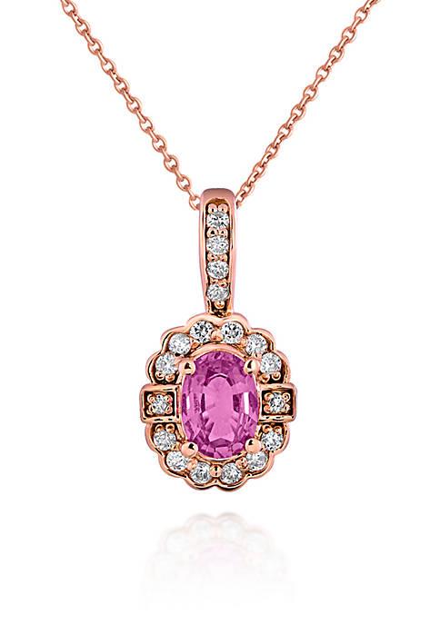 Belk & Co. 14k Rose Gold Pink Sapphire