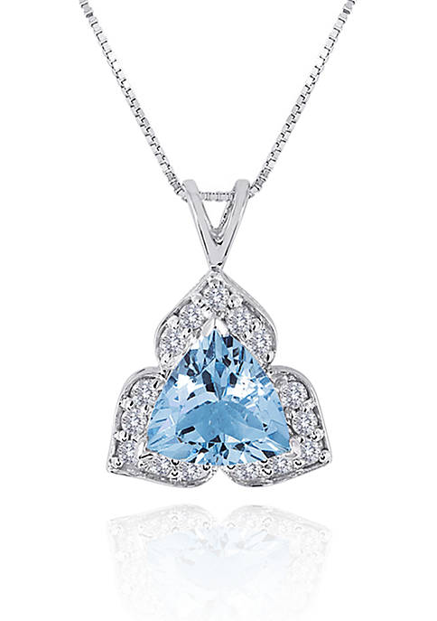 Belk & Co. 14k White Gold Aquamarine and