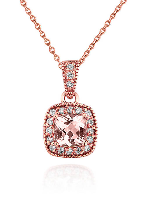 Belk & Co. 14k Rose Gold Morganite and