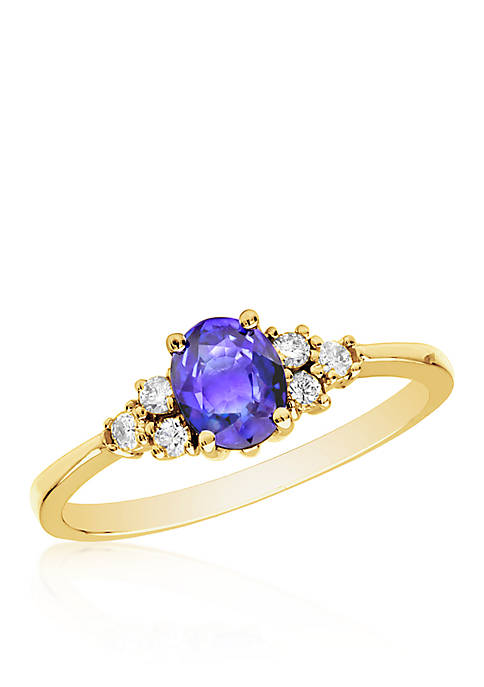 Belk & Co. 14k Yellow Gold Tanzanite and