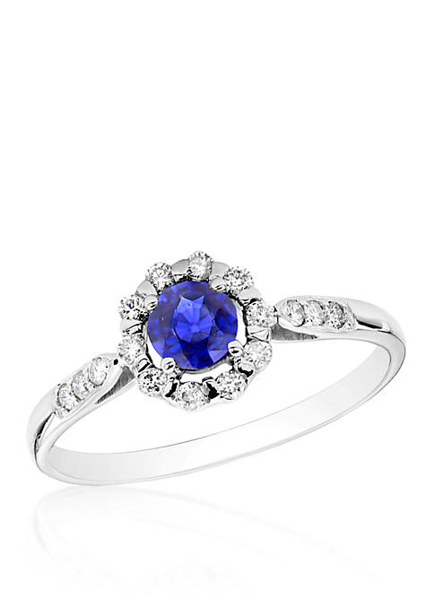 Belk & Co. 14k White Gold Sapphire and