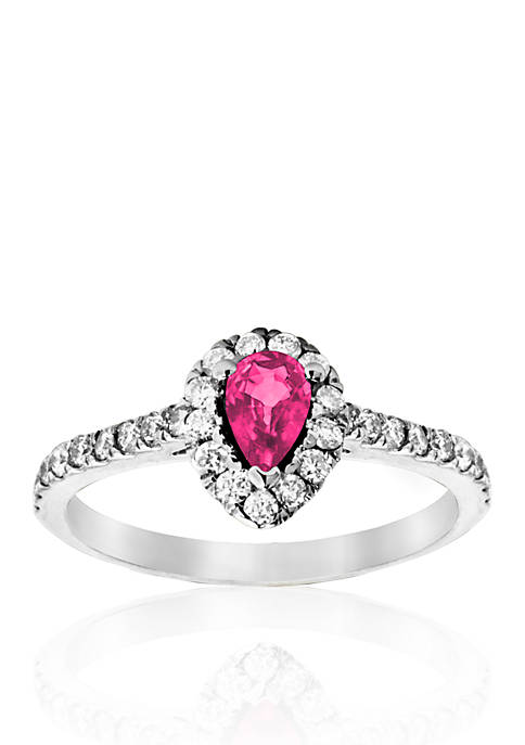 Belk & Co. 14k White Gold Pink Sapphire