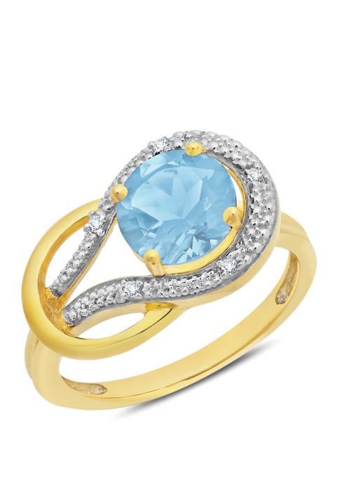 Belk & Co. 10K Yellow Gold Blue Topaz