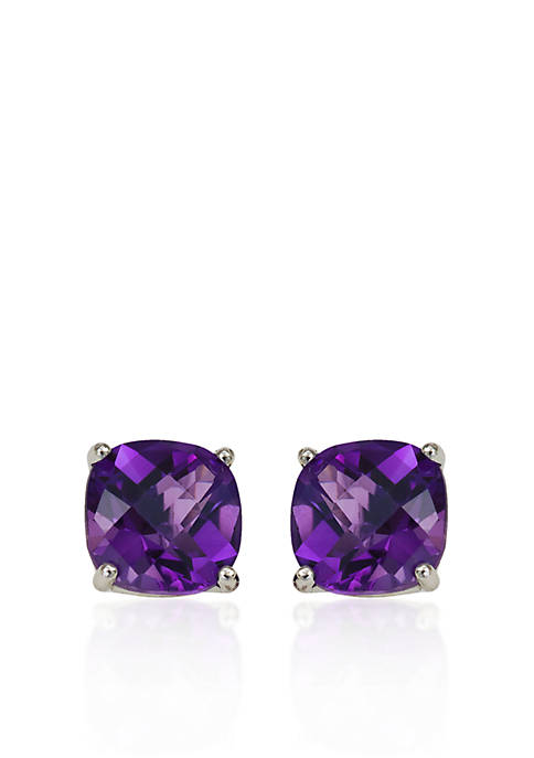 Belk & Co. 14k White Gold 6mm Amethyst