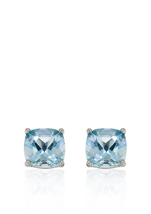 Belk & Co. 14k White Gold 6mm Aquamarine