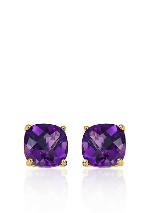 Belk & Co. 14k Yellow Gold 6mm Amethyst