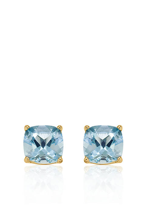 Belk & Co. 14k Yellow Gold 6mm Aquamarine
