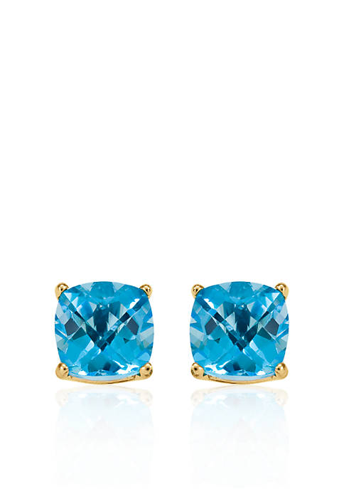 Belk & Co. 14k Yellow Gold 6mm Blue