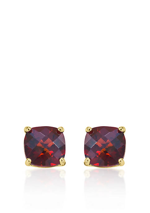 Belk & Co. 14k Yellow Gold 8mm Garnet