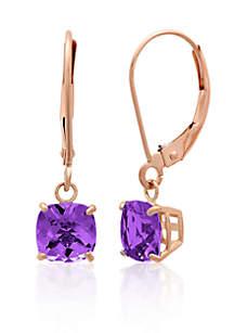 10k Rose Gold Amethyst Earrings