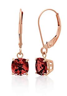 10k Rose Gold Garnet Earrings
