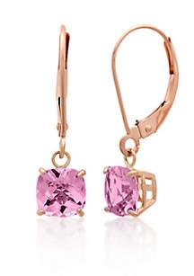 10k Rose Gold Pink Amethyst Earrings