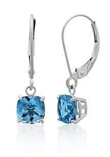 10k White Gold London Blue Topaz Earrings