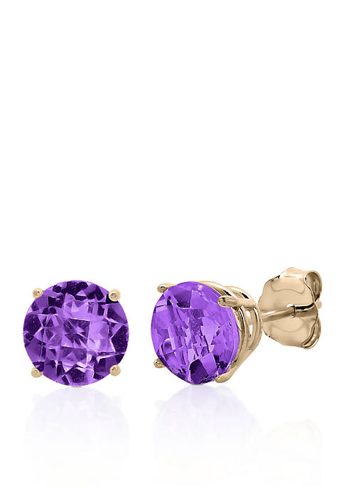 Belk & Co. 10k Rose Gold Amethyst Stud
