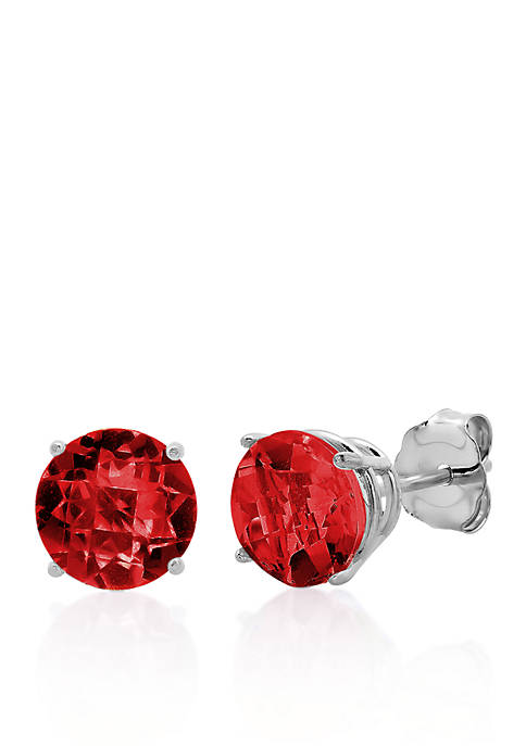 Belk & Co. 10k White Gold Garnet Stud