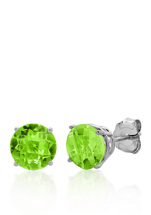 Belk & Co. 10k White Gold Peridot Stud