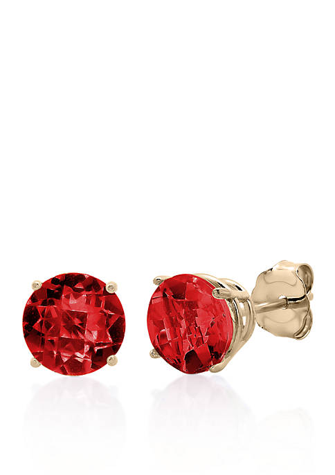Belk & Co. 10k Rose Gold Garnet Stud