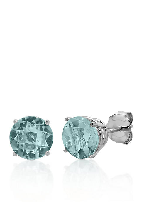 Belk & Co. 10k White Gold Aquamarine Stud