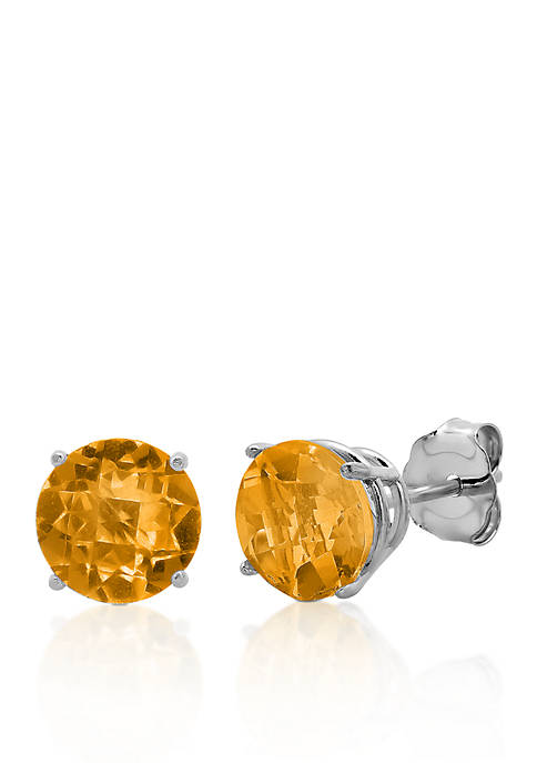 Belk & Co. 10k White Gold Citrine Stud