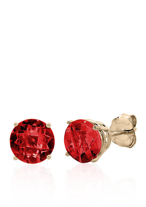 Belk & Co. 10k Yellow Gold Garnet Stud