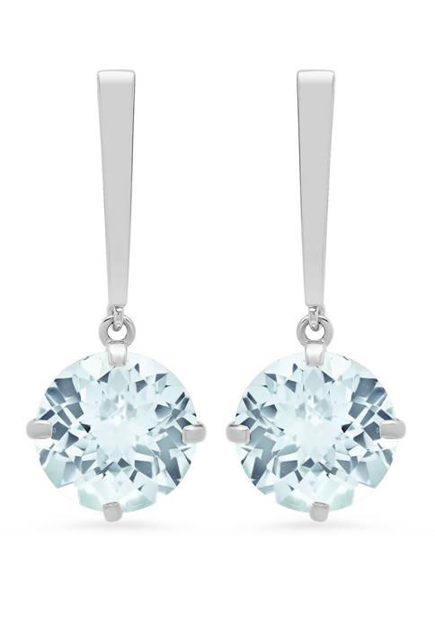 3.6 ct. t.w. Aquamarine Drop Earrings