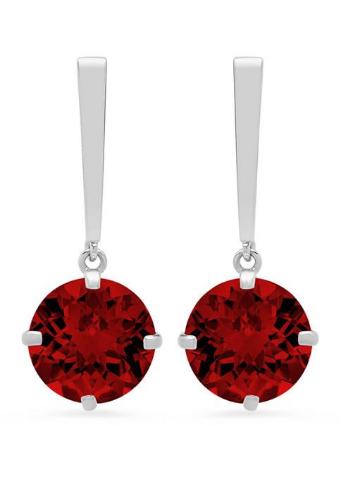 4 ct. t.w. Garnet Drop Earrings