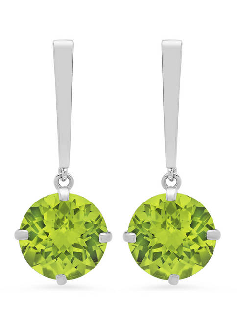 3.8 ct. t.w. Peridot Drop Earrings
