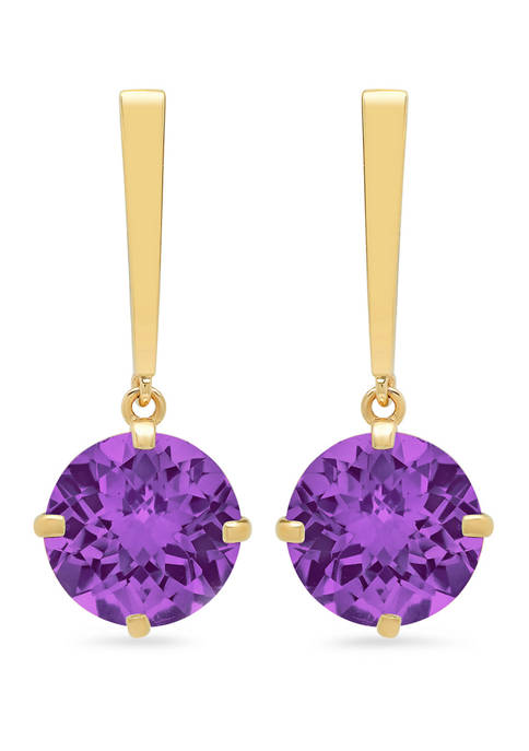 Belk & Co. Amethyst Drop Earrings