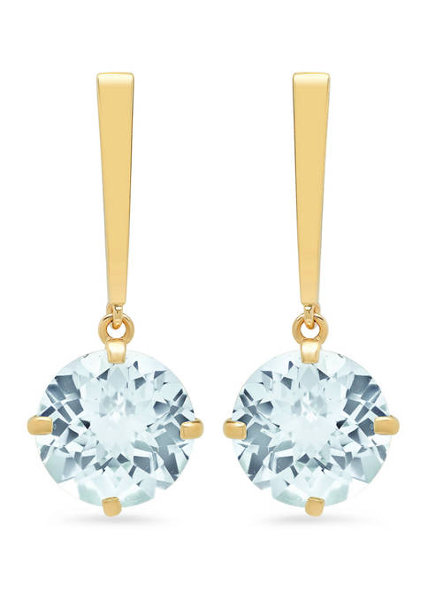 Belk & Co. Aquamarine Drop Earrings