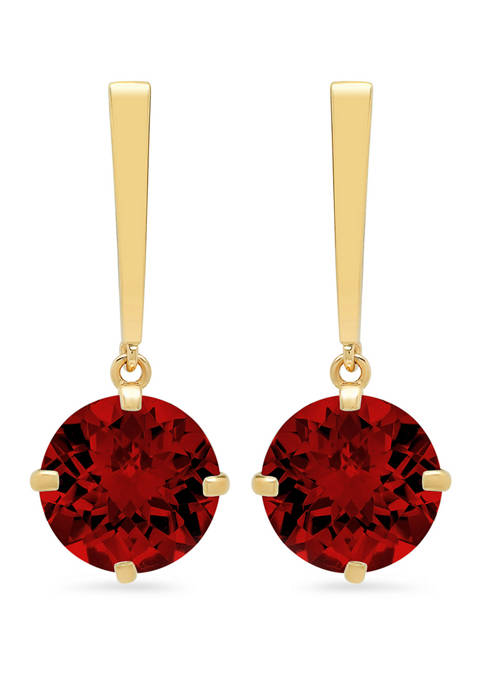 Belk & Co. Garnet Drop Earrings