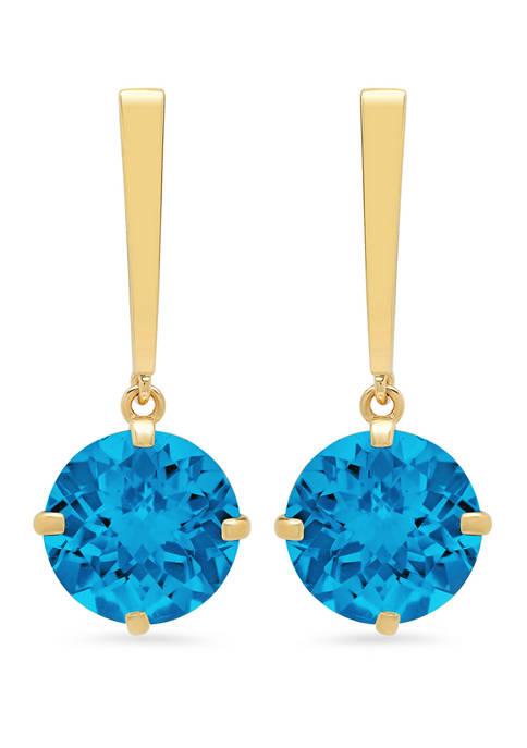 Belk & Co. Swiss Blue Topaz Drop Earrings