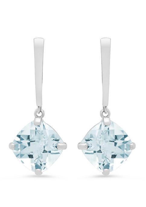 3.8 ct. t.w. Aquamarine Drop Earrings