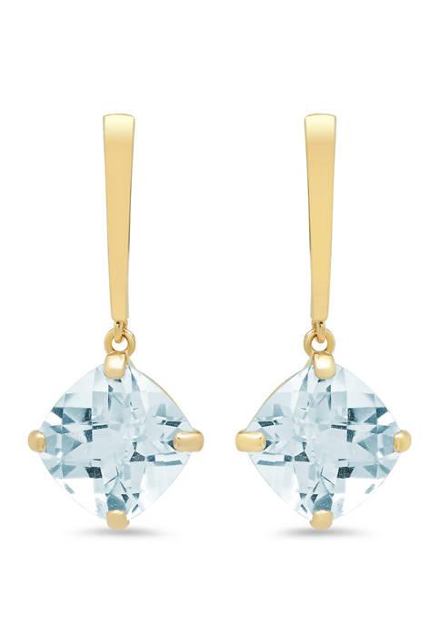 Belk & Co. Aquamarine Drop Earrings