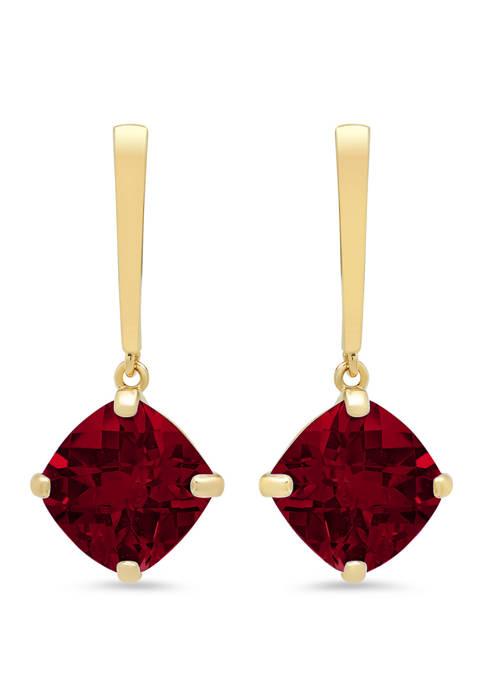 4.2 ct. t.w. Garnet Drop Earrings