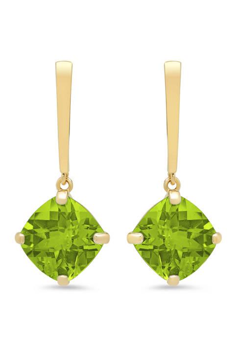 4 ct. t.w. Peridot Drop Earrings