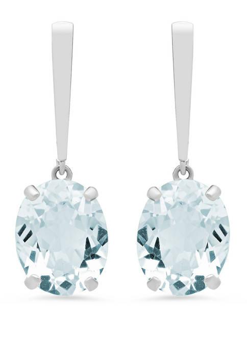 5 ct. t.w. Aquamarine Drop Earrings