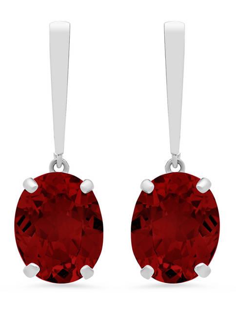6 ct. t.w. Garnet Drop Earrings