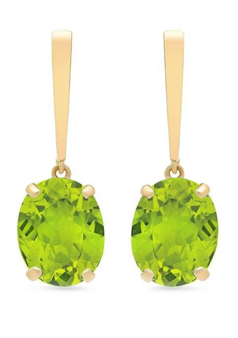 5 ct. t.w. Peridot Drop Earrings